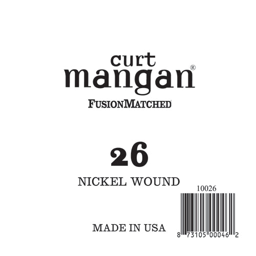 Curt Mangan 26 Nickel Wound Ball End Single String - Dynamic Music Distribution