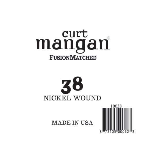 Curt Mangan 38 Nickel Wound Ball End Single String - Dynamic Music Distribution