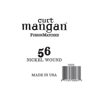 Curt Mangan 56 Nickel Wound Ball End Single String - Dynamic Music Distribution