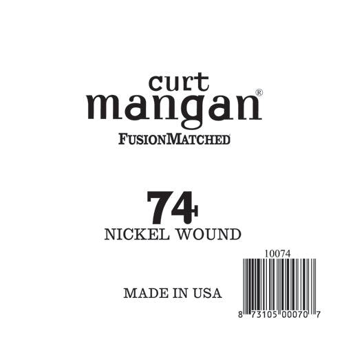 Curt Mangan 74 Nickel Wound Ball End Single String - Dynamic Music Distribution