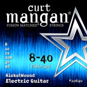 Curt Mangan 8-40 Nickel Wound Electric Guitar - Dynamic Music Distribution