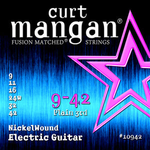 Curt Mangan 9-42 Nickel Wound Electric Guitar Strings - Dynamic Music Distribution