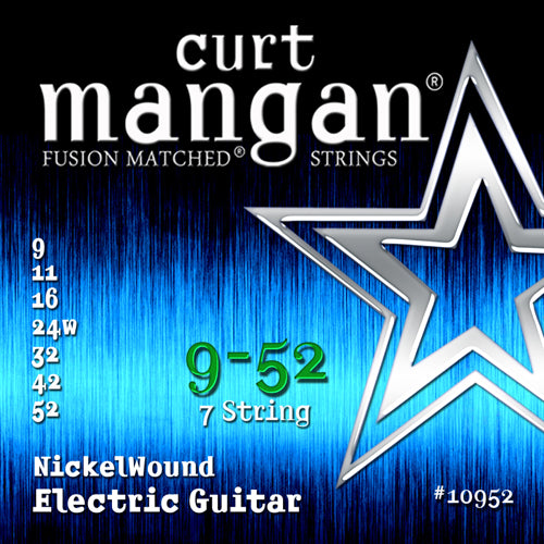 Curt Mangan 9-52 Nickel Wound (7-String) Set Electric Guitar - Guitar Gear Pro