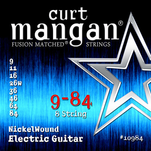 Curt Mangan 9-84 8-String Nickel Wound Electric Guitar Strings - Dynamic Music Distribution