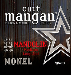 Curt Mangan MONEL Mandolin Medium Strings - Dynamic Music Distribution
