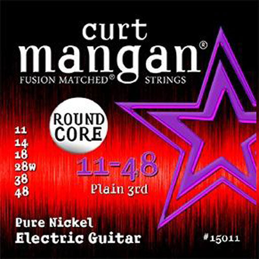 Curt Mangan 11-48 Pure Nickel Round Core Electric Guitar Strings - Dynamic Music Distribution