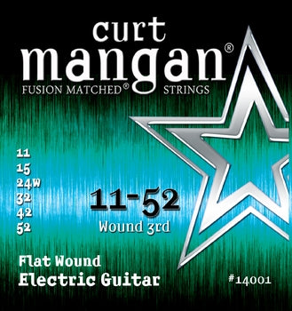 Curt Mangan 11-52 Flatwound Electric Guitar Strings - Dynamic Music Distribution
