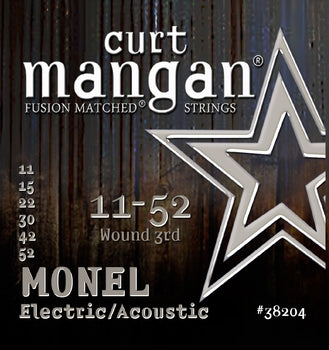 Curt Mangan 11-52 Monel Electric /Acoustic Guitar Strings - Dynamic Music Distribution
