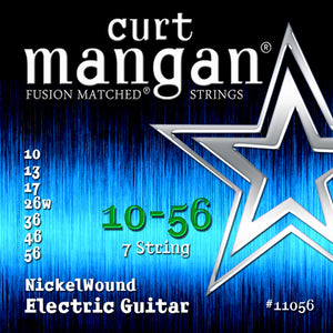Curt Mangan 10-56 Nickel Wound (7-String) Set Electric Guitar - Guitar Gear Pro