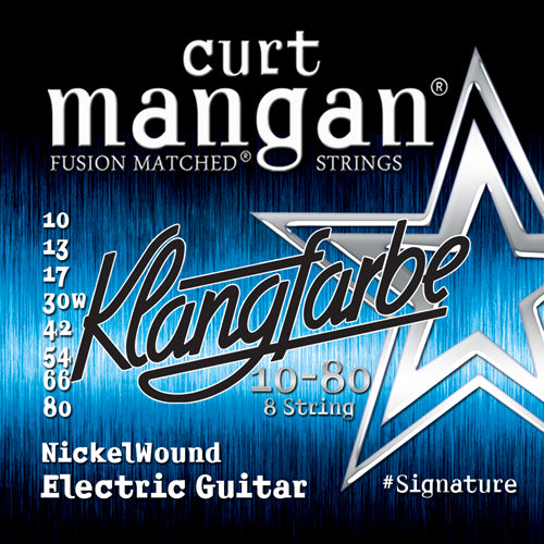 Curt Mangan 10-80 8-String NickelWound Electric Guitar Strings - Dynamic Music Distribution