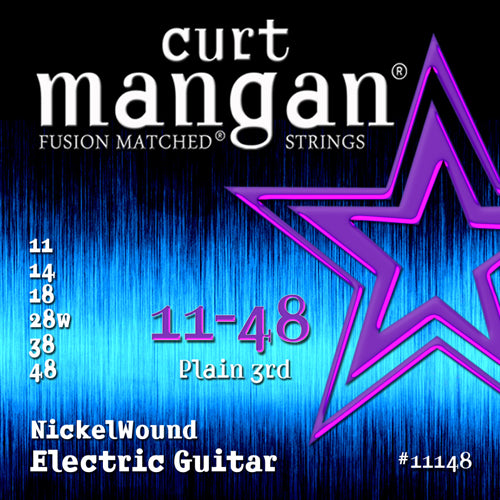 Curt Mangan 11-48 Nickel Wound Electric Guitar Strings - Dynamic Music Distribution
