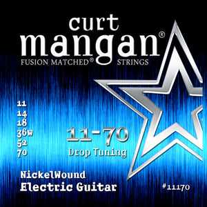 Curt Mangan 11-70 Nickel Wound Drop Tuning Electric Guitar Strings - Guitar Gear Pro