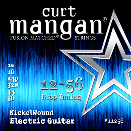 Curt Mangan 12-56 Nickel Wound (Drop Tuning) Electric Guitar Strings - Dynamic Music Distribution