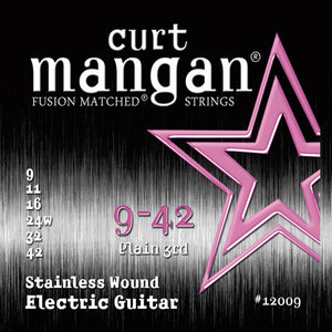 Curt Mangan 9-42 Stainless Steel Set Electric Guitar - Dynamic Music Distribution