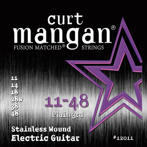 Curt Mangan 11-48 Stainless Steel Set Electric Guitar - Guitar Gear Pro