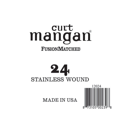 Curt Mangan 24 Stainless Wound Ball End Single String - Dynamic Music Distribution