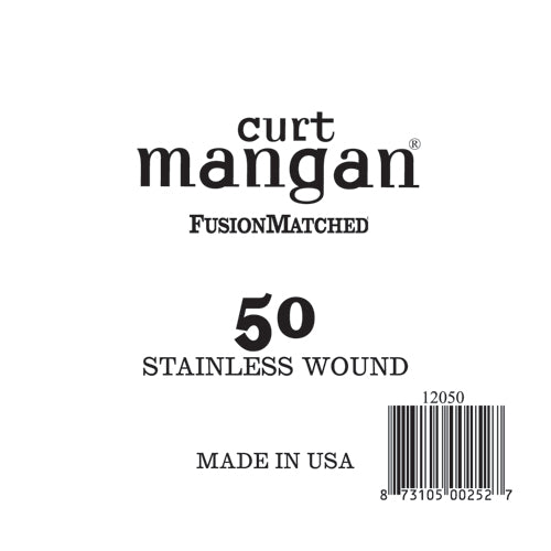 Curt Mangan 50 Stainless Wound Ball End Single String - Dynamic Music Distribution