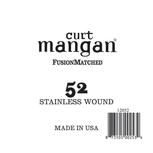 Curt Mangan 52 Stainless Wound Ball End Single String - Dynamic Music Distribution