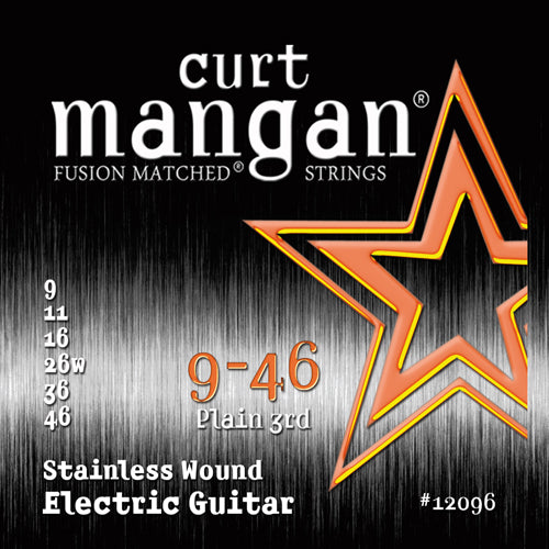 Curt Mangan 9-46 Stainless Steel Set Electric Guitar - Guitar Gear Pro