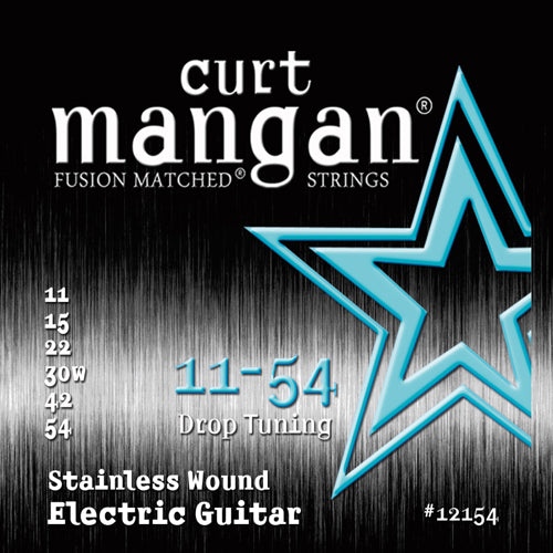 Curt Mangan 11-54 Stainless Steel (Drop Tuning) Electric Guitar - Guitar Gear Pro