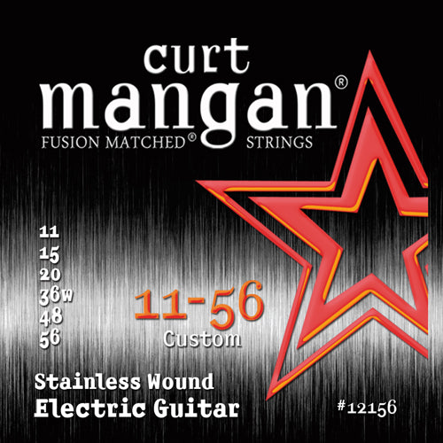 Curt Mangan 11-56 Stainless Steel (Drop tuning) Electric Guitar Strings - Dynamic Music Distribution