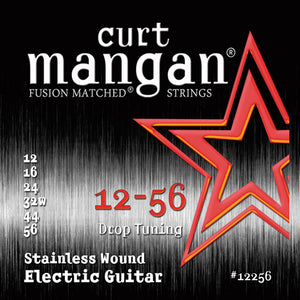 Curt Mangan 12-56 Stainless Steel (Drop Tuning) Electric Guitar Strings - Dynamic Music Distribution