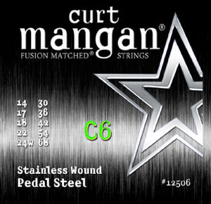 Curt Mangan C6 Pedal Steel Stainless Wound Set Strings - Dynamic Music Distribution