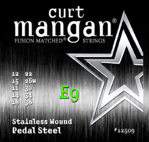 Curt Mangan E9 Pedal Steel Stainless Wound Set Electric Guitar Strings - Dynamic Music Distribution