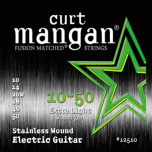 Curt Mangan 10-50 Stainless Steel Extra Light Set Electric Guitar Strings - Guitar Gear Pro