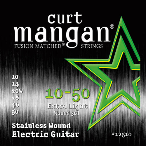 Curt Mangan 10-50 Stainless Steel Extra Light Set Electric Guitar Strings - Dynamic Music Distribution