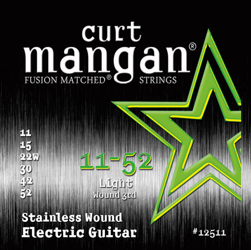 Curt Mangan 11-52 Stainless Steel Light Set Electric Guitar Strings - Guitar Gear Pro