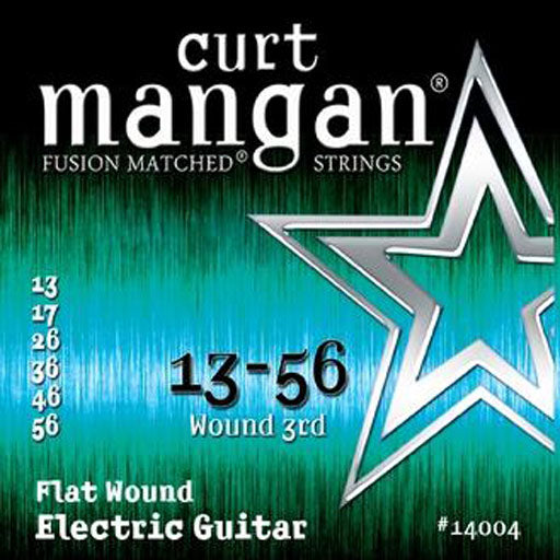 Curt Mangan 13-56 Flatwound Electric Guitar Strings - Guitar Gear Pro