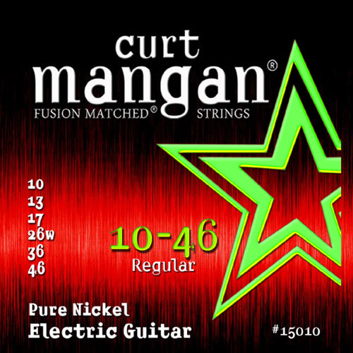 Curt Mangan 10-46 Pure Nickel Wound Set Electric Guitar Strings - Dynamic Music Distribution