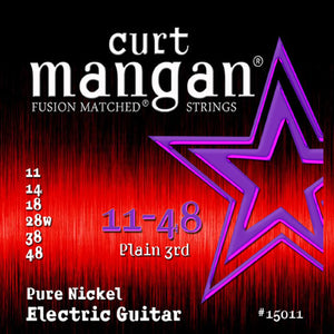 Curt Mangan 11-48 Pure Nickel Wound Set Electric Guitar Strings - Dynamic Music Distribution