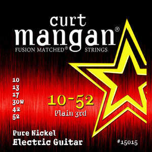 Curt Mangan 10-52 Pure Nickel Wound Set Electric Guitar Strings - Dynamic Music Distribution