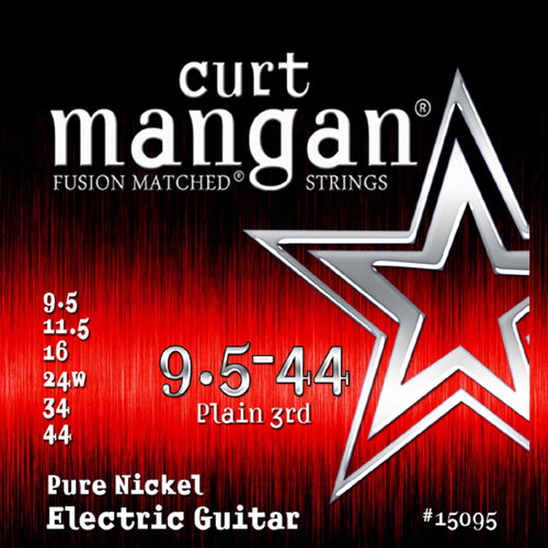 Curt Mangan 9.5-44 Pure Nickel Electric Guitar Strings - Dynamic Music Distribution
