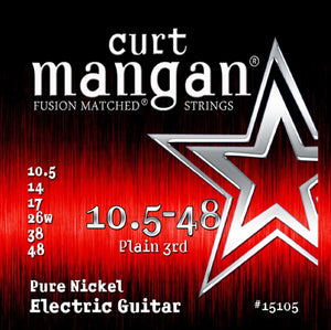 Curt Mangan 10.5-48 Pure Nickel Set Electric Guitar Strings - Dynamic Music Distribution