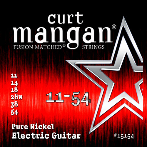 Curt Mangan 11-54 Pure Nickel Electric Guitar Strings - Dynamic Music Distribution