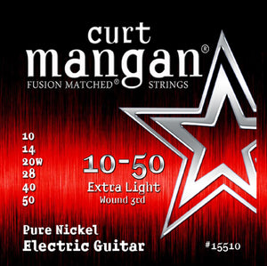 Curt Mangan 10-50 Pure Nickel Wound Extra Light Set Electric Guitar Strings - Dynamic Music Distribution