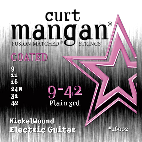 Curt Mangan 9-42 Nickel Wound COATED Electric Guitar Strings - Dynamic Music Distribution