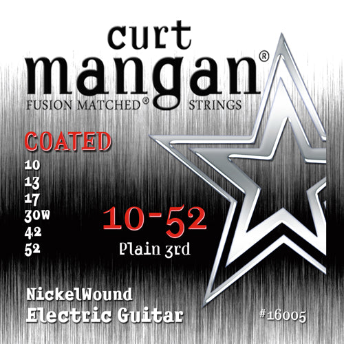Curt Mangan 10-52 Nickel Wound COATED Electric Guitar Strings - Dynamic Music Distribution