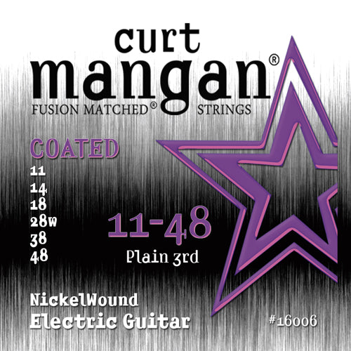 Curt Mangan 11-48 Nickel Wound COATED Electric Guitar Strings - Dynamic Music Distribution