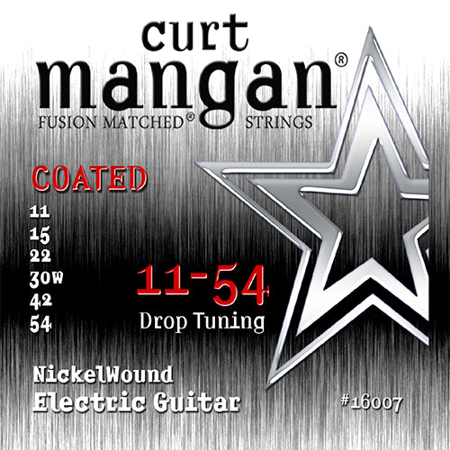 Curt Mangan 11-54 Nickel Wound COATED Electric Guitar Strings - Dynamic Music Distribution
