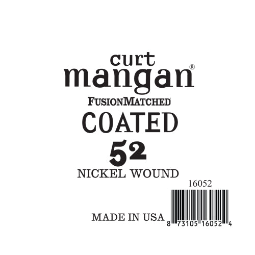 Curt Mangan 52 NickelWound COATED Single String