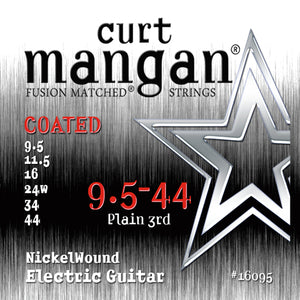 Curt Mangan 9.5-44 Nickel Wound COATED Electric Guitar Strings - Dynamic Music Distribution
