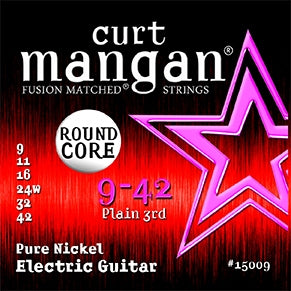 Curt Mangan 9-42 Pure Nickel Round Core Electric Guitar Strings - Dynamic Music Distribution