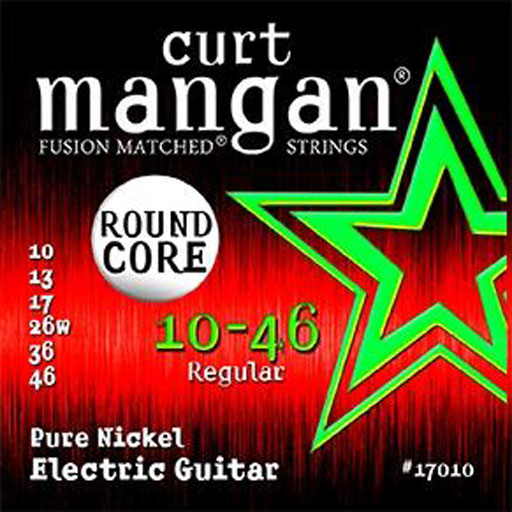 Curt Mangan 10-46 Pure Nickel Round Core Electric Guitar Strings - Dynamic Music Distribution