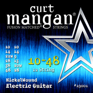 Curt Mangan 10-48 12-String Nickel Wound Electric Guitar Strings - Guitar Gear Pro