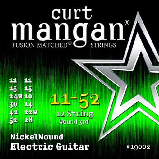 Curt Mangan 11-52 Nickel Wound 12-String Medium Set Electric Guitar Strings - Dynamic Music Distribution