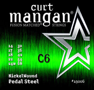 Curt Mangan C6 Pedal Steel Nickel Wound Set Strings - Dynamic Music Distribution